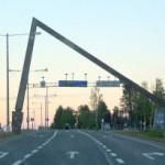 L'attraversamento del circolo polare artico a Rovaniemi