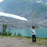 visita al ghiacciaio con Elisa