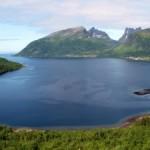 Immagine spettrale nel nord della Norvegia